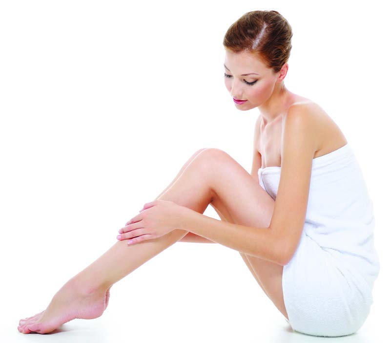 Body care of  female legs